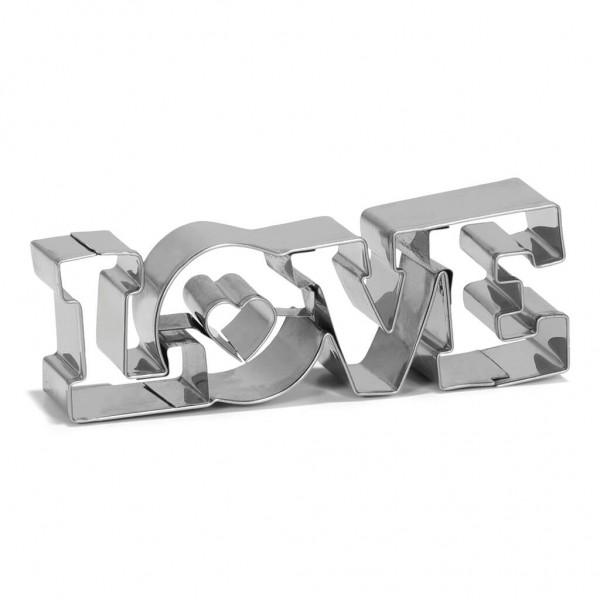 Ausstechform Edelstahl Love