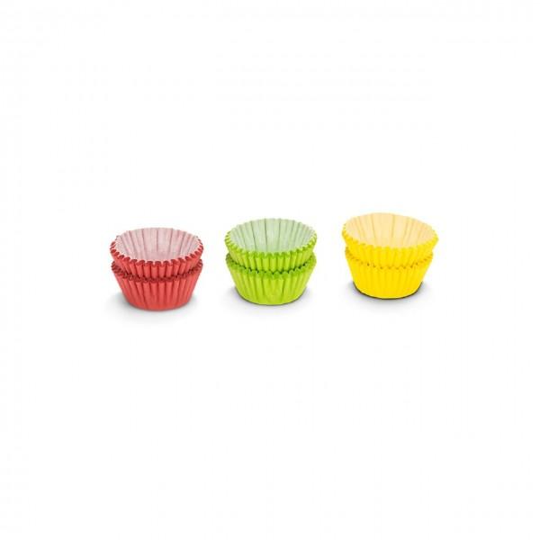 Mini Muffin / Pralinenförmchen | Uni grün/gelb/rot