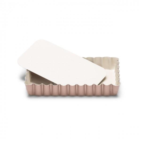 Mini Quicheform / Tartelettform rechteckig mit Hebeboden 13x8 cm | Ceramic