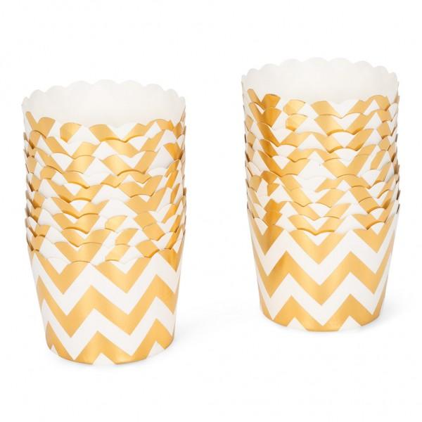 Cupcake-Papierförmchen zickzack gelb 20 Stück
