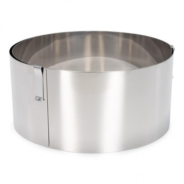 Tortenring verstellbar extra hoch Edelstahl