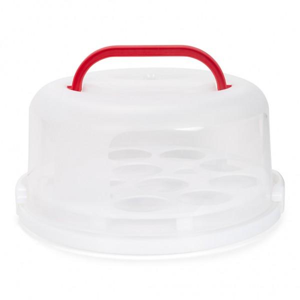 Kuchen und Cupcake Transport-Box 30 cm rund