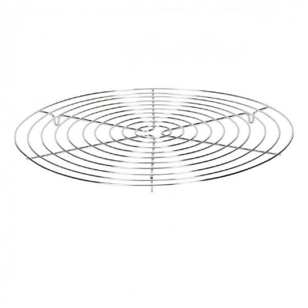 Kuchengitter verchromt 32 cm rund