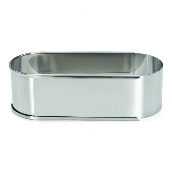 Mini-Backrahmen oval verstellbar Edelstahl