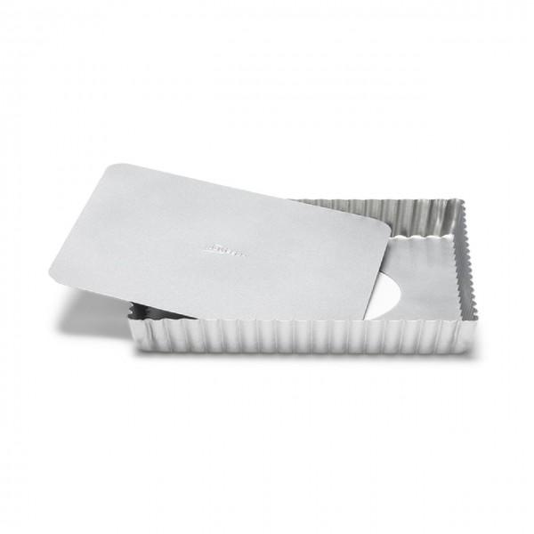 Quiche- / Tarteform quadratisch Silver-Top mit Hebeboden 21 cm