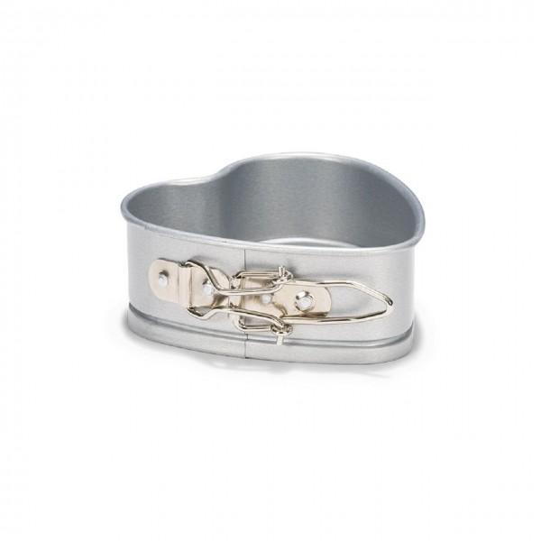Herz Springform 12 cm | Silver-Top