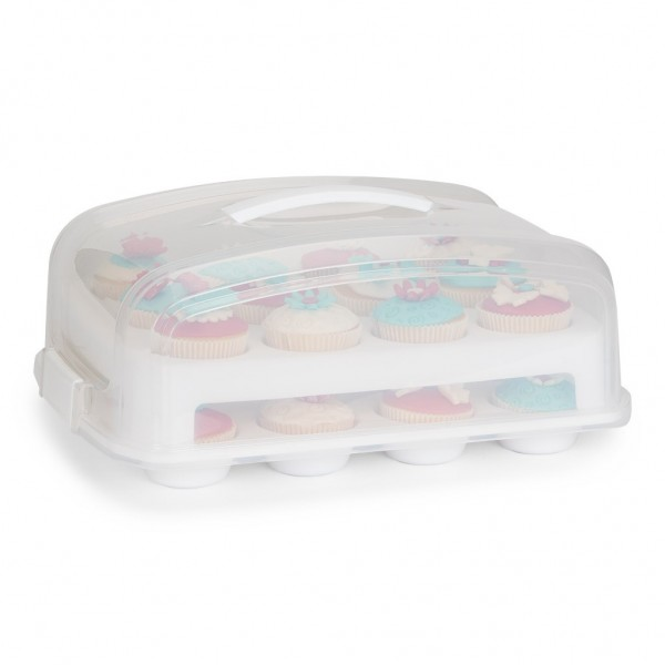 Cupcake / Muffin Transportbox für 24 Stück 39 cm