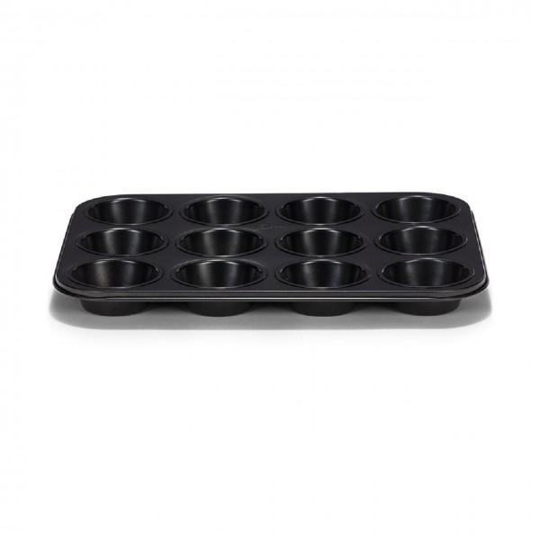 Muffinform 12er Classique antihaft schwarz.