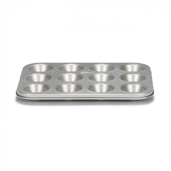 Mini-Muffinform 12er Silver-Top antihaft grau