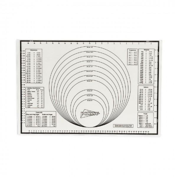 Silikon Backmatte mit verschiedenen Einteilungen 60x40 cm