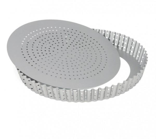 Quicheform gelocht mit Hebeboden 24 cm | Silver-Top