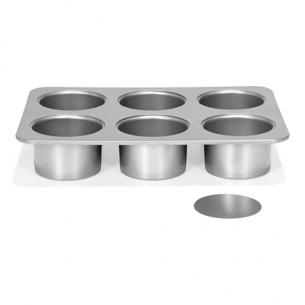 Mini-Cheesecake-Form mit losen Böden 6 tlg. | Silver-Top