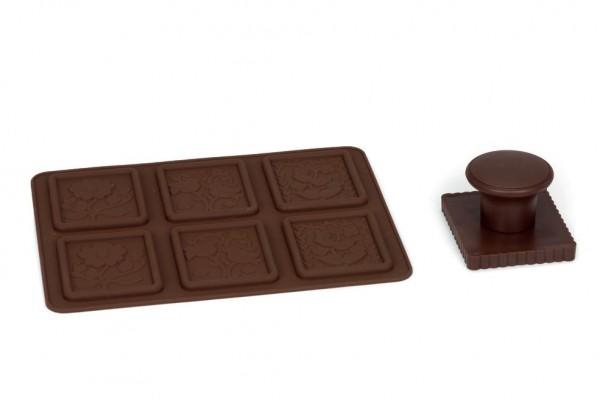 Set- Butterkekse mit Schokolade 20 x 14cm