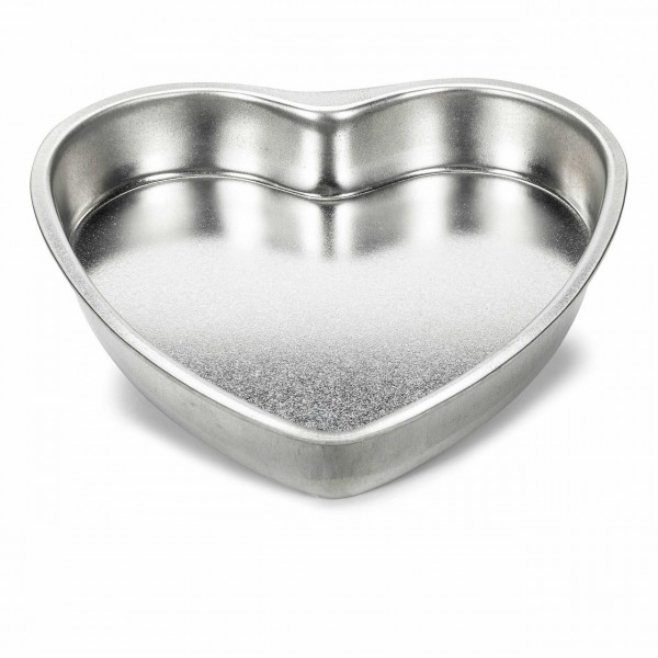 Herzbackform Basic Weißblech 20 cm