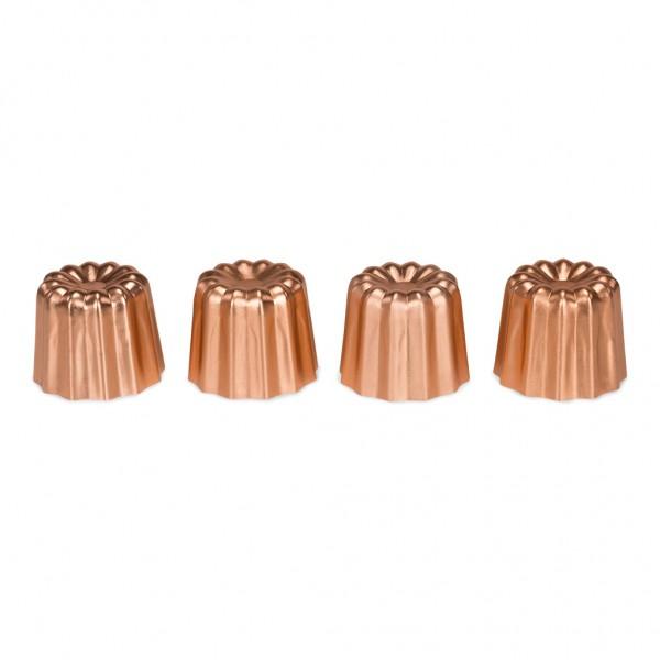 Canelé-Backformen-Set kupfer 4-teilig 4,5 cm