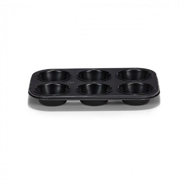 Muffinform 6er Classique antihaft schwarz.