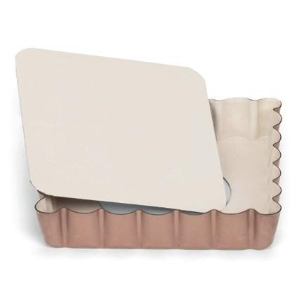 Mini Quicheform / Tartelettform quadratisch mit Hebeboden 10 cm | Ceramic