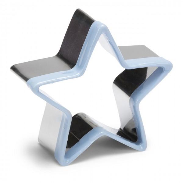 Ausstechform Edelstahl Stern mit Kunststoffrand