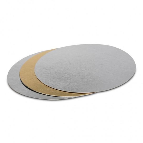 Tortenunterlage 3 Stück 2 x silber, 1 x gold Ø 30 cm