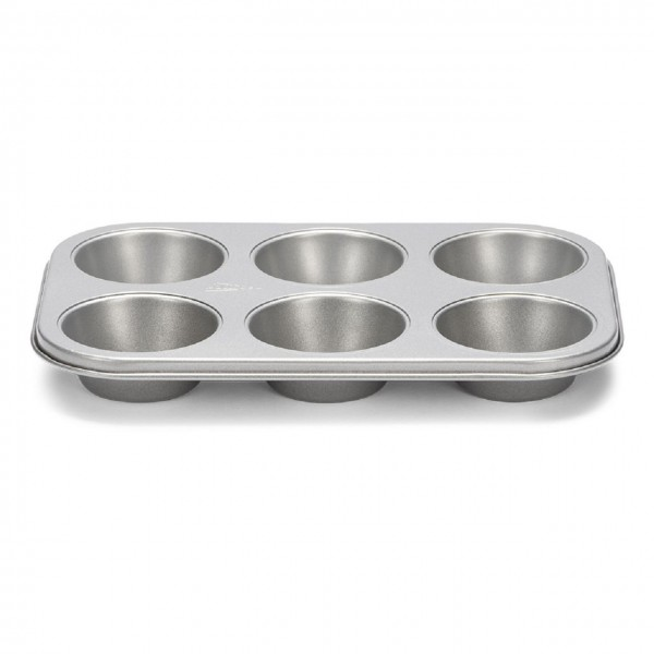 Muffinform 6er Silver-Top antihaft grau
