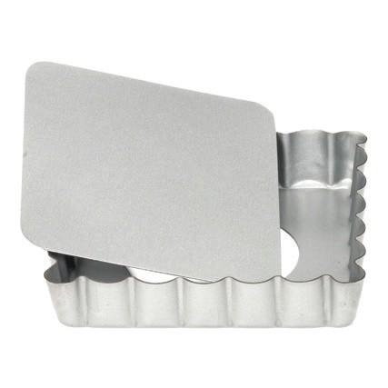 Mini-Quicheform / Tartelettform quadratisch mit Hebeboden 10 cm | Silver-Top