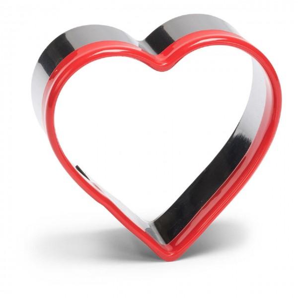 Ausstechform Edelstahl Herz mit Kunststoffrand