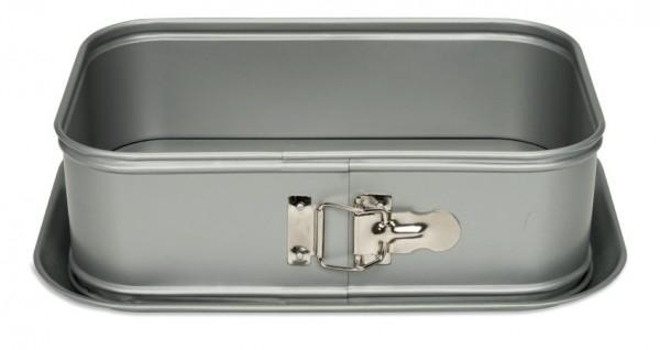 Springform rechteckig mit hohem Rand auslaufsicher 28x18 cm | Silver-Top